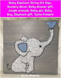 1. Baby Elephant String Art Sign, Nursery decor, Baby shower gift, Jungle animals, Baby girl, Baby Boy, Elephant gift, Twins Present Baby Elephant String Art Sign, Nursery decor, Baby shower gift, Jungle animals, Baby girl, Baby Boy, Elephant gift, Twins… Continue Reading →  , #Animals, #Art, #Baby, #Boy, #Decor, #Elephant, #Gift, #Girl, #Jungle, #Nursery, #Present, #Shower, #Sign, #String, #Twins