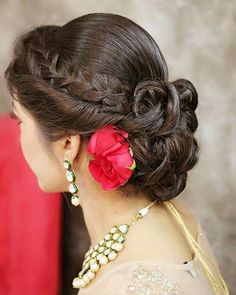 of braided bun hairstyle Twisted hairstyle with braid and ringlet bridal bun for wedding day.Twisted hairstyle with braid and ringlet bridal bun for wedding day. Bridal Hairdo, Hairdo Wedding, Bridal Bun, Bridal Hair And Makeup, Hair Makeup, Wedding Makeup, Rose Wedding, Wedding Blog, Wedding Ideas