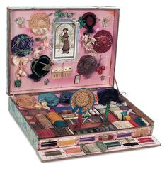 Milliners box for creating doll bonnets