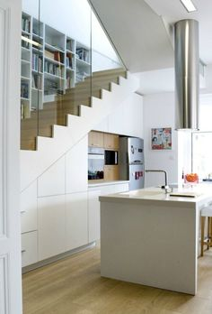Attractive Stairs Above The Kitchen
