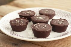 Dark Chocolate, Almond Butter Mini-Cups with Sea Salt, Gluten-free, Vegan + Refined Sugar-free by Tasty Yummies, via Flickr