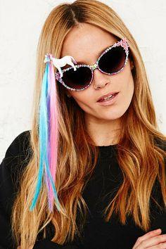 0a678344054a Spangled Disco Pony Sunglasses Festival Fashion