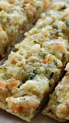 Cheesy Shrimp Ciabatta