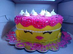 Shopkins Birthday cake. White cake with Buttercream frosting.