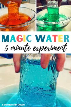 Water Suspension Science Experiment for Kids - A Mothership Down