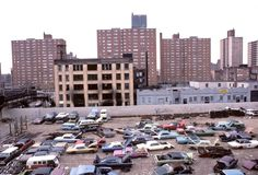 View of Brownsville from the Sutter Ave. stop on the L line, Brooklyn, 1978/vintage everyday: Awesome Photographs of New York City in the 1970's
