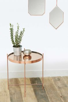 Shop Kimmy Side Table at Urban Outfitters today. Silver Side Table, Urban Outfitters, Rustic Industrial, Light Fittings, Home Gifts, My Dream Home, House Design, Living Room, House Styles