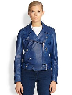 Shop Mape Leather Biker Jacket from stores. Simple Outfits, Trendy Outfits, Edgy Girls, Stylish Tops, Fashion Gallery, Clothing Items, Acne Studios, Biker, My Style