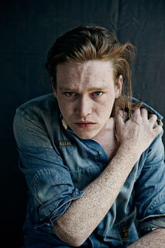 Oh how i love thee...let me count the freckles...Caleb Landry Jones by Heiko Laschitzki