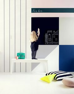 DIY: FEEL FREE TO DRAW ON THE WALL