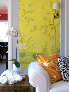 Wallpaper Panel Inspiration: Plans for the Living Room » Swoon Worthy