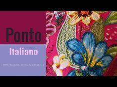 Aula 5 - Passo a passo Ponto Italiano sendo aplicado com o ponto corrente, corrente torcido - YouTube Hand Embroidery Videos, Learn Embroidery, Embroidery Monogram, Miniature Dolls, Handmade Crafts, Fiber Art, Weaving, Stitch, Arts And Crafts