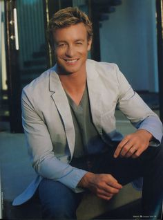 Simon Baker, always tackles vulnerable, complicated characters...gorgeous too.