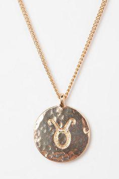 Rhinestone Zodiac Necklace  #UrbanOutfitters