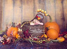 custom crochet turkey earflap hat sizes newborn baby toddler. $23.00, via Etsy.