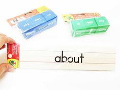 Sight word strips, 30 flash cards