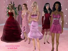 Mod The Sims - Valentine Gown Collection