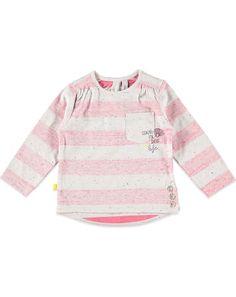 Babyface T-shirt jersey gestreept roze - T-shirt jersey streep €24,95