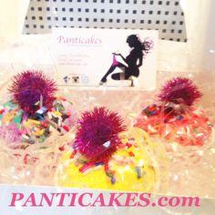 "Patent Pending Panticakes ""Prettiest Packaged Panties Panties wrapped to look like cupcakes delivered in frosting scented packaging WWW.panticakes.com Follow Panticakes on instagram www.facebook.com/panticakes1"