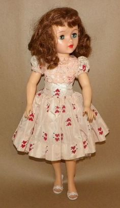 """Vintage 1950s IDEAL 17"""" RED HAIR MISS REVLON DOLL VT-18 w OUTFITS & MORE #DollswithClothingAccessories"""