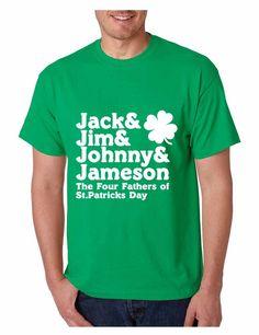 8c5455a2f95 The four fathers of st patricks day men T-shirt saint patricks day irish  drunk