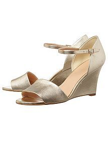 View product Phase Eight Metallic Leather Wedges