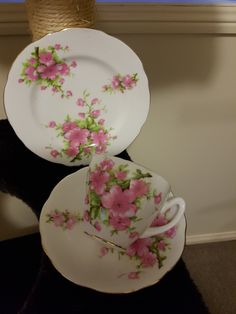 Fine China Trio ~ Pink Blossoms Pink Blossom, Fine China, Old World, Blossoms, Tea Cups, Plates, Tableware, Beautiful, Collection