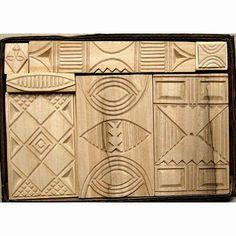 Oshiwa Carved Wood Printing Stamp Set African Designs by Oshiwa, $112.00