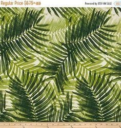 Schiffe gleichen Tag grüne Palme Wedel Indoor/Outdoor tropischen Stoff, Palm Polsterstoff, Bezugsstoff tropischen Outdoor-Kissen, Palmen Stoff