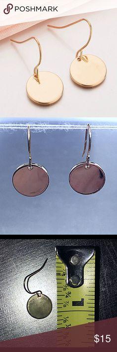 Gold Sequin Earrings NWT Gold Sequin Earrings NWT:  Simple yet beautiful alloy drop earrings. Jewelry Earrings