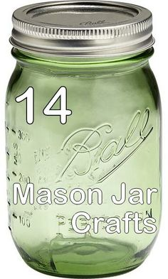 So many awesome Mason Jar Crafts, all in one place! Each has a video tutorial too! ~ Crafty Hangouts: 14 Mason Jar Crafts