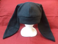 Solid Black Rabbit Ears Hat CREEPY CUTE Anime Cosplay Beanie (DEXTER Style) via Etsy