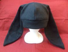 Solid Black Rabbit Ears Hat CREEPY CUTE Anime Cosplay Beanie (DEXTER Style) via Etsy