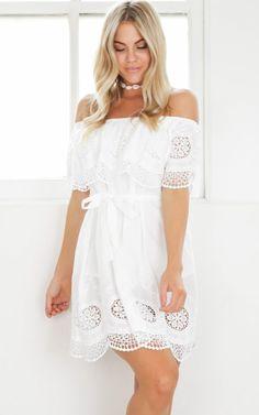 showpo, showpo dress, white, white dress, dress