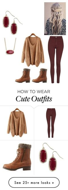 """Cute winter outfit"" by peightonburns on Polyvore featuring Topshop, Charlotte Russe and Kendra Scott"