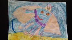 Księżniczka ośmiornica Ośmiornica powstała z odrysowania dłoni - pomysł i wykonanie Zuzia 5 lat