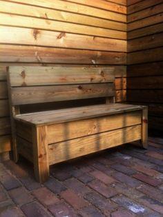How to Build a Garden Storage Bench | Make. Do. Blog.