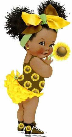 Black Love Art, Black Girl Art, Art Girl, Cute Baby Drawings, Drawings Of Black Girls, Black Art Painting, Black Artwork, Black Art Pictures, Cute Baby Pictures
