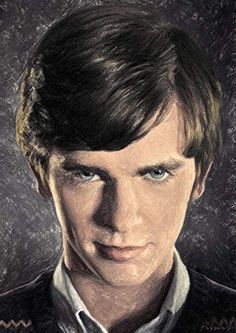 Zapista Norman Bates Painting Fine Art Print Bates Motel Unique Artwork Horror Poster Home Wall Decor Unframed x Horror Decor, Horror Art, Art Prints Quotes, Fine Art Prints, Pop Art Zombie, Zombie Gifts, Norman Bates, Horror Posters, Thing 1