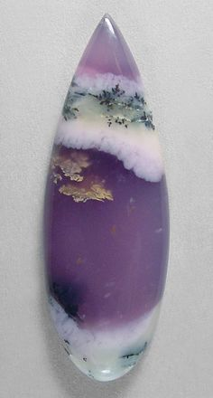 Amethyst Sage Agate ... translucent lavender chalcedony is riddled with manganese dendritic inclusions