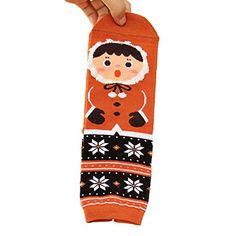 MINGXINTECH Womens 6Pack 6Color Winter Baby Theme Thick Christmas Crew Socks -- Check out the image by visiting the link.