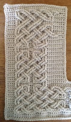 Ravelry: Book of Kells - Large Celtic Cables pattern by Suvi Crochet Home, Knit Or Crochet, Irish Crochet, Crochet Motif, Free Crochet, Crochet Trim, Crochet Borders, Crochet Stitches Patterns, Stitch Patterns