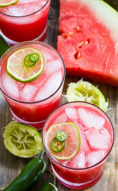 Jalapeno Watermelon Margarita from @FMSCLiving