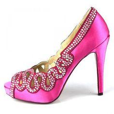 Louboutin Ausschnitt Peep Toe Satin Pumps Pink0 #redbottoms