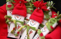 Candy bar wraps. (Snowmen)