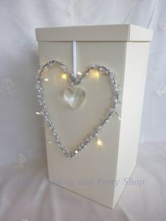LIGHTED HEART WEDDING CARD RECEIVING POST BOX WISHING WELL RECEPTION DECORATION | eBay