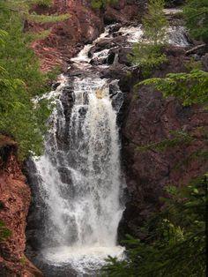 Brownstone Falls, Copper Falls State Park, near Mellen, Wisconsin;  30 feet high