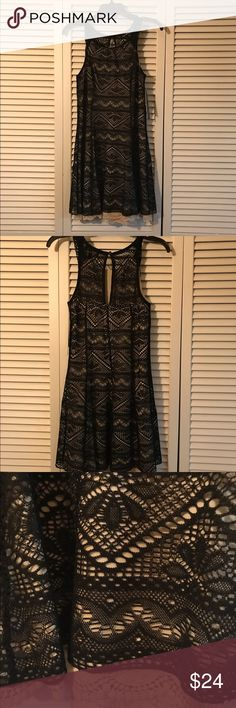 Black lace dress Sequin Hearts black lace with cream lining and bottom.  Size 3, brand new with tags.  Great for summer or just a little black dress occasion. Sequin Hearts Dresses