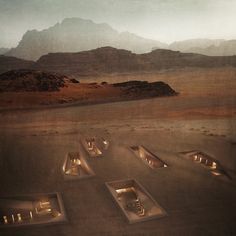 Architect Rasem Kamal has proposed a network of burrow-like spaces that would sprawl out beneath a UNESCO-protected valley in the Jordan desert
