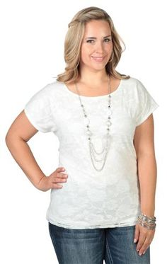 5dbb58e2cc1 plus size lace top with envelope back and attached necklace Tiger T Shirt